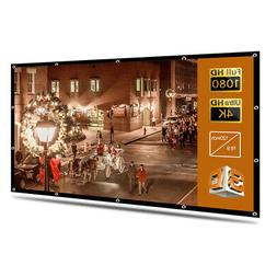 100-120'' Portable Foldable Projector Screen 16:9 HD Home Th