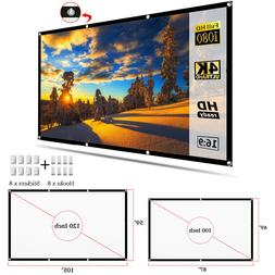 "100""/120"" Portable Foldable Projector Screen 16:9 HD Home Th"