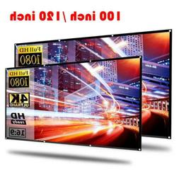 "100'' 120"" Portable Foldable Projector Screen 16:9 HD Theate"