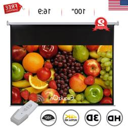 """100"""" 16:9 1.2 Gain Electric Wall Ceiling HD Projector Screen"""