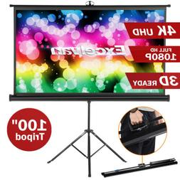 100'' 16:9 1080P HD Video Projector Projection Screen For Ho