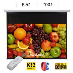 "100"" 16:9 Electric Motorized HD Projector Screen Home Theate"