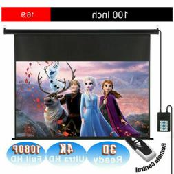 100 16 9 electric motorized projector screen