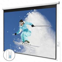 "100"" 16:9 Electric Projection Screen Pull Down Projector Hom"