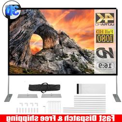 """100"""" 16:9 HD 3D 4K Portable Projector Screen Home Theater Mo"""