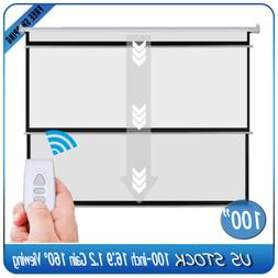 """100"""" 16:9 HD 4K Electric Motorized Projector Screen Home The"""