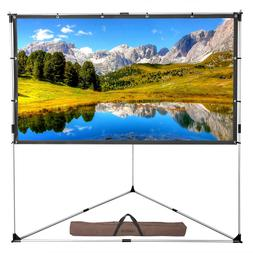 """100"""" 16:9 Outdoor Indoor with Triangle Stand Portable Projec"""