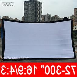 """100-300"""" White Canvas Fabric Portable Projector Projection S"""