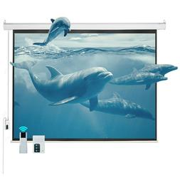 """100"""" 4:3 Electric Motorized Projector Projection Screen Remo"""