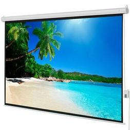 "100"" 4:3 Viewing Area Motorized Projector Screen with Remote"