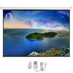 "100"" 4:3 HD Electric Motorized Projector Screen 80""x 60"" Hom"