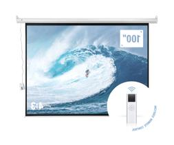 "Homegear 100"" 4:3 HD Electric Motorized Projector Screen + R"