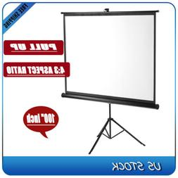 100 4 3 portable pull up projector