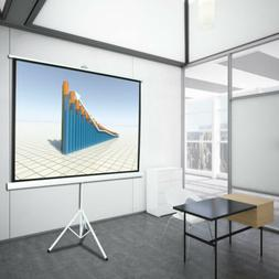 """100"""" 4:3 Projection Projector Screen Home HD Movie Manual Pu"""