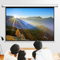 """Leadzm 100"""" 4:3 Projector Screen Manual Pull Down Ceiling /"""