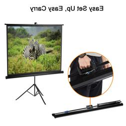 "100"" 4:3 Pull Up Projector Screen For HD Movies Projection w"
