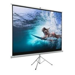 "Homegear 100"" 4:3 Tripod Projector Screen Manual Pull Down H"