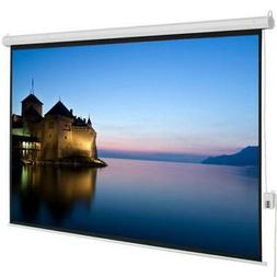 """100"""" 4:3 Viewing Area Motorized Projector Screen with Remote"""