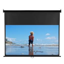 Excelvan 100'' 4K Manual Pull Down Projector Screen For LED