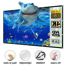 "100""& 120'' Portable Foldable Projector Screen 16:9 HD Home"