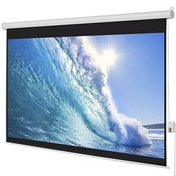 100 Diagonal 16:9 Electric Projector Projection Screen Remot