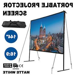 "100"" Electric Motorized Remote Projection Screen HD Movie Pr"