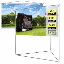 "VIVOHOME 100"" Full HD Projector Screen Stand & Hanging Indoo"