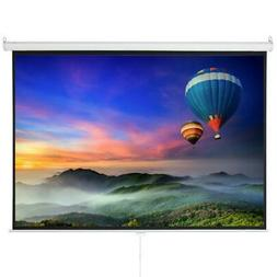 """100"""" HD 4:3 Projector Screen Projection Pull Down 1:3 Gain W"""