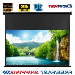 "100"" Inch 16:9 1.2Gain Manual Pull Down Projector Screen HD"