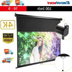 100-inch 16:9 Manual Pull Down Wall Ceiling HD 1080P Project