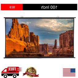 "100"" Inch 16:9 1.1 Gain Projection Projector Screen Home The"