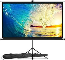 100 Inch Stand With Screen Projector Outdoor Indoor With Tri