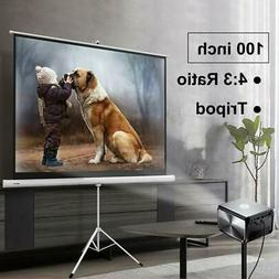 portable 100 4 3 hd projection projector