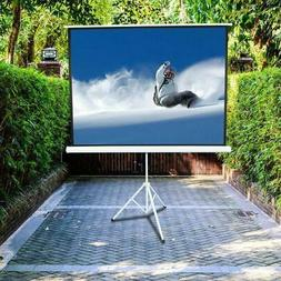 100 Inch 4:3 HD Projector Screen Tripod Stand Matte Pull Up