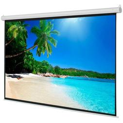 100 Inch 4:3 Manual Pull Down Projector Projection Screen Ho