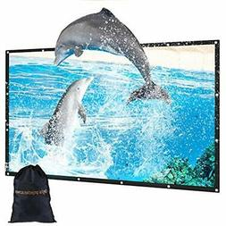 100 Inch Outdoor Movie Projector Screen With Bag, GBTIGER 10