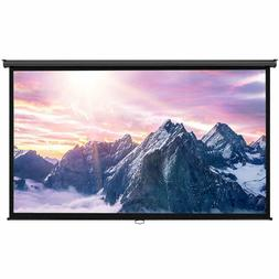 """100 Inch Projector Screen - Manual Pull Down - 100"""" Widescre"""