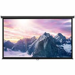 """VonHaus 100 Inch Projector Screen - Manual Pull Down - 100"""""""