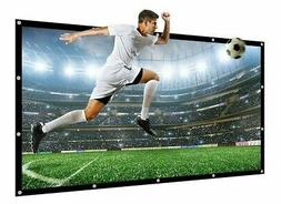 "NIERBO 100"" Movie Projector Screen 16:9 PVC Soft White"