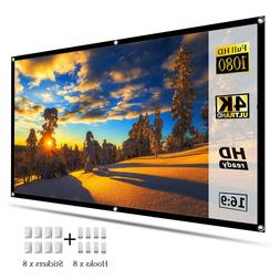 100inch Portable Foldable Projector Screen 16:9 HD Home Thea