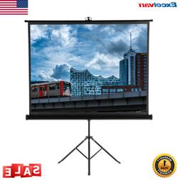 """100"""" Portable Manual Pull Down Projector Screen Home Theater"""