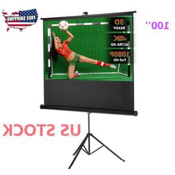 "100"" Portable Pull Up Projector Screen For Projection+Stable"