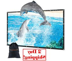 """120in Outdoor Movie Projector Screen 120"""" 16:9 Portable Fold"""
