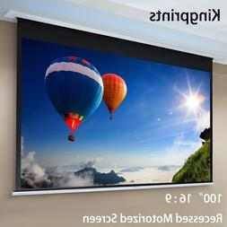 100inch 16:9 Recessed Motorized Projection <font><b>Screen</