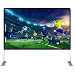 100inch projector screen with stand polyester portable