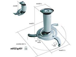 Monoprice 103875 Ceiling Bracket for Projector, White