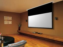 """106"""" Ceiling Recessed Motorized Projector Screen White 16:9"""