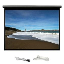 """106"""" Motorized Projector Screen 16:9 HD White Matte Home The"""