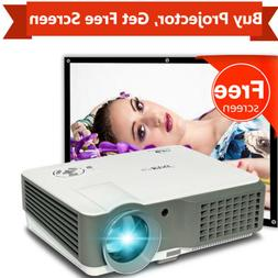 1080p Home Theater LED Projector 4200lm Movie HDMI*2 USB*2 V