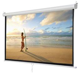 """119"""" Manual Pull Down Projector Projection Screen Home Theat"""